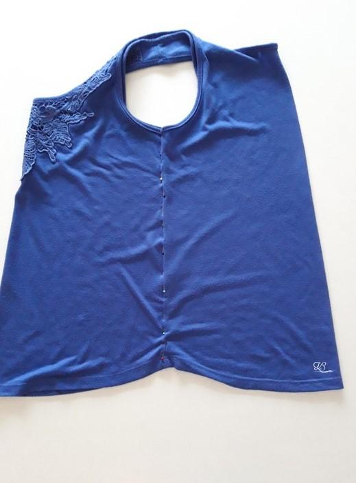 ujjatlan póló előkészítése szabásmintához